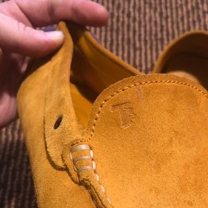 Tods suede drivers loafer